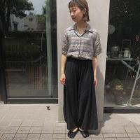 【USED】総柄シルクシャツ
