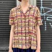 シルク 半袖シャツ