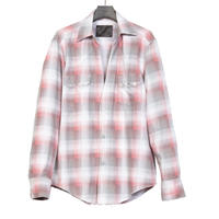 WESTERN CUTTING SHIRT -OMBRE CHECK FLANNEL-