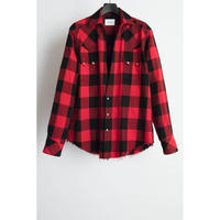 Western Cutting Shirt. -Buffalo Check Flannel-