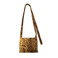 D RING BAG -LEOPARD FUR-