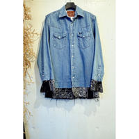 The Letters × OLDPARK / Bandana Tail Denim Shirt.