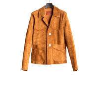 WESTERN CONCHO JACKET -GOAT SUEDE-