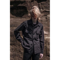 WESTERN CPO SHIRT JACKET -HERRINGBONE WOOL COTTON-