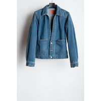 Western Cutting Denim Jacket. -Used Washed-