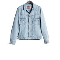 WESTERN DENIM SHORT SHIRT  -USED WASHED-