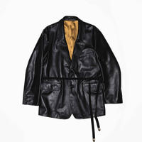 SINGLE BREASTED STRAP JACKET -COW HIDE-