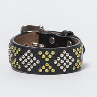 25mm STUDS BRACELET -diamond- (BLACK)