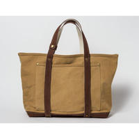 TANNING CANVAS TOTE BAG (CAMEL×BROWN)