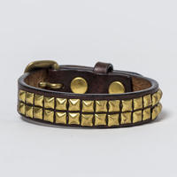 15mm STUDS BELT -pyramid- (CHOCO)