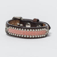 15mm STUDS BRACELET -inlay- (CHOCO)
