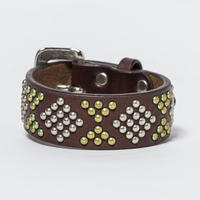 25mm STUDS BRACELET -diamond- (CHOCO)