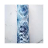 袋名古屋帯 博多八寸 ブリリオ 青藍/翠
