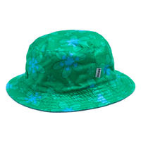 banGo Cotton Green Flower Hiyoke Hat / Made in Hawaii U.S.A.