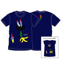 HA.RI.E Tシャツ(ネイビー)