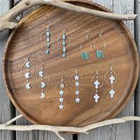 silver925 drop hoop earring