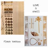 flash tattoo 2枚セット LOVE&shell