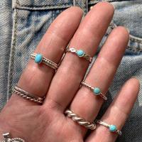 turquoise pattern ring