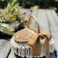 Rattan cago bag by Due