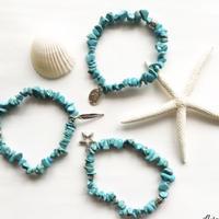 Turquoise chip bracelet