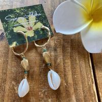 shell&turquoise pierce by Sunny aloha
