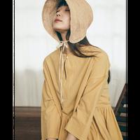 WAIST SHIRRING DRESS PINK/YELLOW_(KR-011)