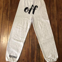 off SWEAT PANTS   P002 【AG】