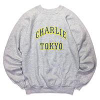 THE CHARLIE TOKYO COLLEGE LOGO SWEATSHIRT (H.GRAY × BLUE)