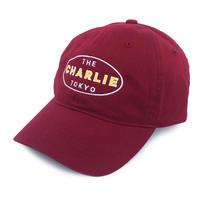 THE CHARLIE TOKYO OVAL LOGO 6PANEL CAP (BURGUNDY)