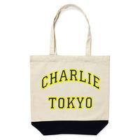THE CHARLIE TOKYO COLLEGE LOGO MEDIUM TOTE BAG (NAVY)