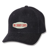 BLACK DENIM BB CAP - BKxWH