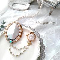 【Lien.jewelry】ブローチ  オーダー夜光貝ジュエリー