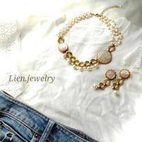 【Lien.jewelry】ネックレス  オーダー夜光貝ジュエリー
