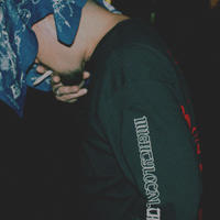"""ANTI"" (ロンT/ブラック) #EXC-LT03"