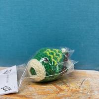 ミミちゃんチョークボール(緑の鯉)