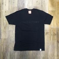 the FACTORY オリジナル ロゴTシャツ (黒×黒ロゴ)