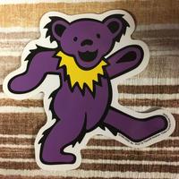 ステッカー  gratefuldead bear グレイトフルデッド  ダンシングベア パープル