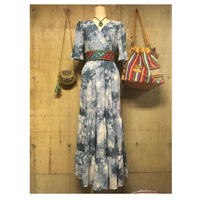 boho blue longdress  sizeM