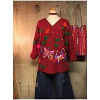 サイズフリー 刺繍トップス ethnic エスニック