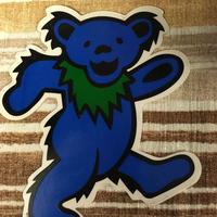 ステッカー  gratefuldead bear グレイトフルデッド  ダンシングベア ブルー