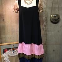 裾プリーツ ジャンパードレス jumper dress size M