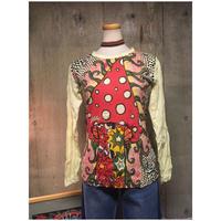 Size M  きのこロングスリーブTシャツ  hippie ヒッピー マッシュルーム