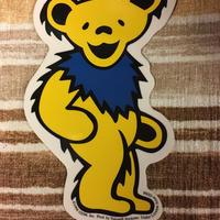 ステッカー  gratefuldead bear グレイトフルデッド  ダンシングベア イエロー