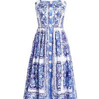 モロッコタイルプリントドレス
