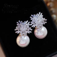【Limited collection】Snow&Pearlピアス