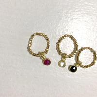 ★mauimarioceanjewelry 14kgf GOLD ring * pink * mサイズ