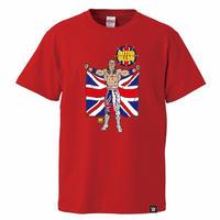 [WWE LEGEND]ブリティッシュ・ブルドッグTシャツ(赤)
