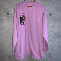 [五木田智央]LATIN PEHLWANSポケット付長袖Tシャツ(purple)
