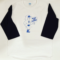 "[Ruminz]""WE ARE THE PEHLWANS "" ベースボールTシャツ(白×ネイビー)"