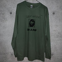 "[五木田智央]GREAT ANTONIO ""RUB A DUB"" 長袖Tシャツ(militarygreen)"